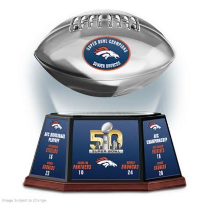 Denver Broncos Super Bowl 50 Levitating Football Sculpture by