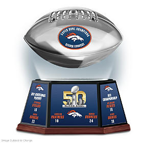 Denver Broncos Super Bowl 50 Football Sculpture