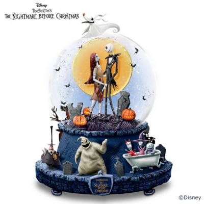 disney the nightmare before christmas musical glitter globe - Nightmare Before Christmas Snow Globes