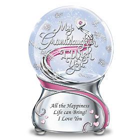 My Granddaughter, I Wish You Glitter Globe