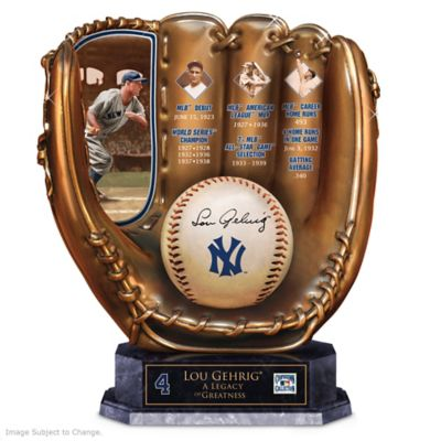 Lou Gehrig Commemorative Cold-Cast Bronze Glove by