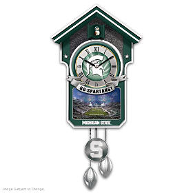 Michigan State Spartans Cuckoo Clock