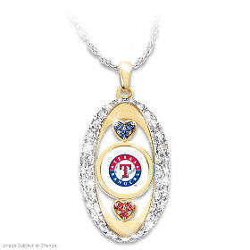 For The Love Of The Game Rangers Pendant Necklace