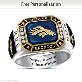 Broncos Pride Personalized Commemorative Ring