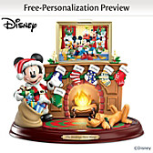 Disney The Stockings Were Hung... Personalized Sculpture