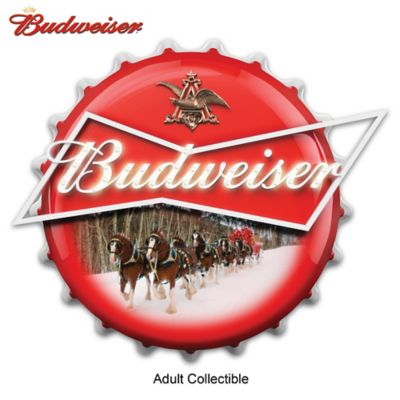 Budweiser Clydesdales Bottle Cap Illuminated Marquee Sign by
