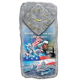Honor, Courage and Commitment Wall Clock