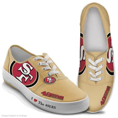 f5c21f4bcdc NFL-Licensed San Francisco 49ers Women s Canvas Sneakers