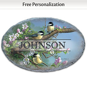Songbird Serenade Personalized Welcome Sign