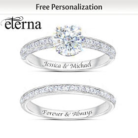 Forever Love Personalized Bridal Ring Set