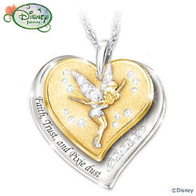 Disney Faith, Trust And Pixie Dust Pendant Necklace