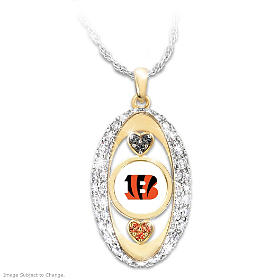 For The Love Of The Game Bengals Pendant Necklace