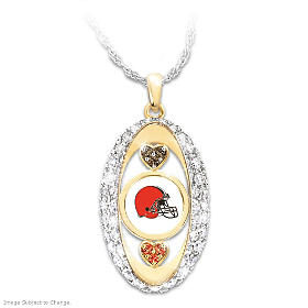For The Love Of The Game Browns Pendant Necklace