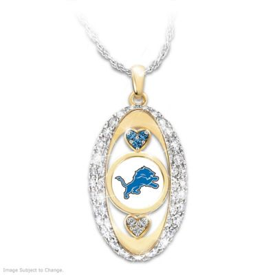 "Click here to buy ""For The Love Of The Game"" Detroit Lions Pendant."