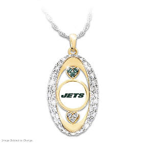 For The Love Of The Game Jets Pendant Necklace