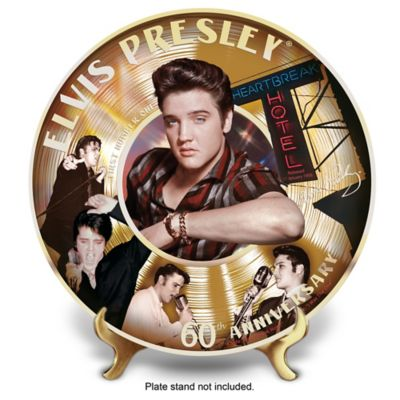 Elvis Presley 60th First Number 1 Record Collector Plate by