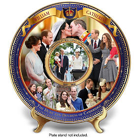 William And Catherine Wedding Anniversary Collector Plate