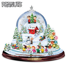 PEANUTS Merry And Bright Snowglobe