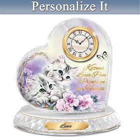 Kitten Sweethearts Personalized Clock