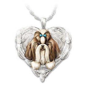 Shih Tzus Are Angels Pendant Necklace