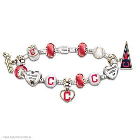 Go Indians! #1 Fan Charm Bracelet