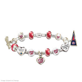 Go Nationals! #1 Fan Charm Bracelet