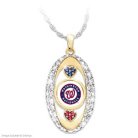 For The Love Of The Game Nationals Pendant Necklace