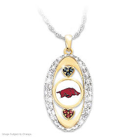 For The Love Of The Game Razorbacks Pendant Necklace