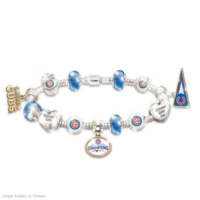 Chicago Cubs 2016 World Series Champions Charm Bracelet by