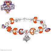 Clemson Tigers 2016 National Champions Charm Bracelet