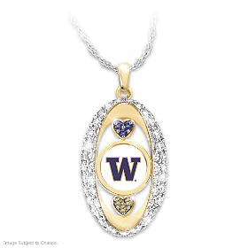 For The Love Of The Game Huskies Pendant Necklace