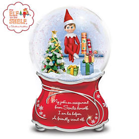 The Elf On The Shelf Glitter Globe
