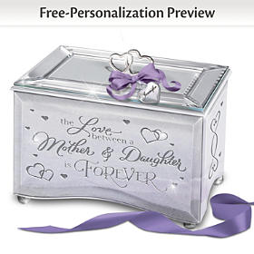 The Love Between A Mother & Daughter Personalized Music Box