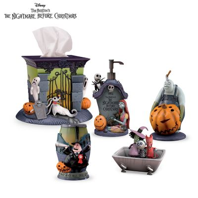 disney tim burtons the nightmare before christmas bath ensemble accessories set - Nightmare Before Christmas Bathroom Decor