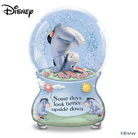 Disney Some Days Look Better Upside Down Glitter Globe
