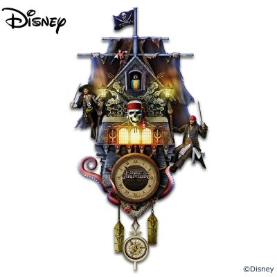Disney Pirates Of The Caribbean Illuminated Wall Clock by