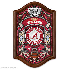 Alabama Crimson Tide Illuminated Stained-Glass Wall Decor