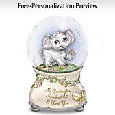 Granddaughter, Never Forget Personalized Glitter Globe
