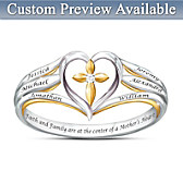 Faith & Family Personalized Diamond Ring