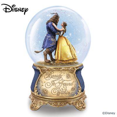 Disney Beauty And The Beast Musical Glitter Globe