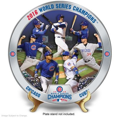 Cubs 2016 World Series Champions Commemorative Plate by