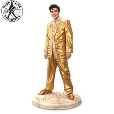 Elvis Presley Glass Mosaic Gold Lamé Sculpture by