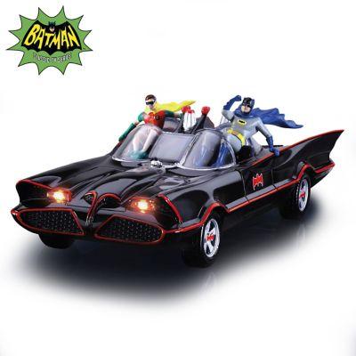 Batman Classic Tv Series Illuminated Batmobile Sculpture