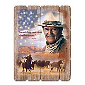 """John Wayne """"The Meaning Of Courage"""" Wall Decor"""