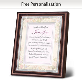 Granddaughter, I Love You Personalized Poem Frame