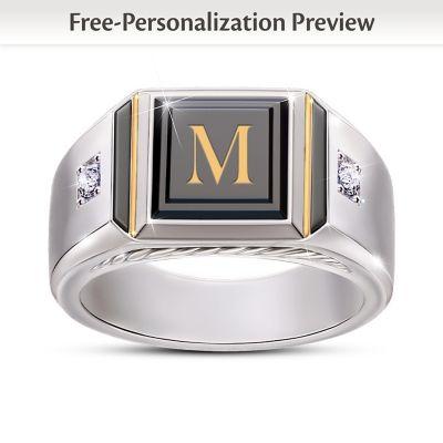 Custom black onyx ring