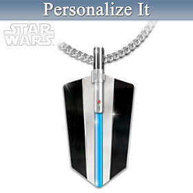 STAR WARS Glow-In-The-Dark Personalized Pendant Necklace