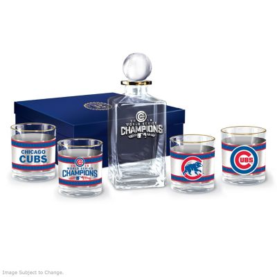 Cubs 2016 World Series Champions Five-Piece Decanter Set by