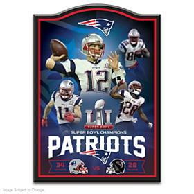 New England Patriots Super Bowl LI Championship Wall Decor
