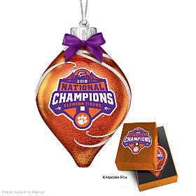 Clemson Tigers 2018 Football National Champions Ornament